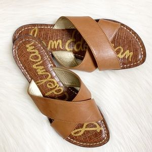 Sam Edelman Kora Brown Leather Sandals | Size 6.5